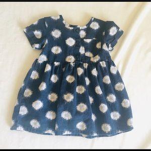 Tea collection Navy and white  polka dot dress